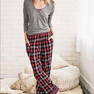 Victoria's Secret Flannel and Henley pajama set s